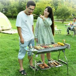 2019 Latest Portable Griddle & Charcoal Gas Grill Combo Outd