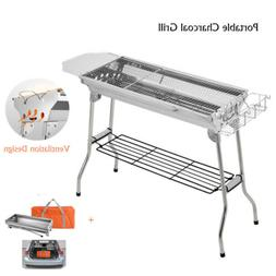 2019 Portable Griddle & Charcoal Gas Grill Combo Outdoor Coo