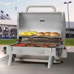 Smoke Hollow 205 Stainless Steel TableTop Propane Gas Grill,