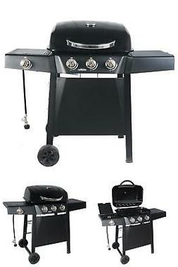 3 Burner Gas Grill with Side Burner RevoAce 2 Wheels BBQ Out