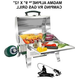 """MAGMA ALPINE™ 9"""" X 12"""" CAMPING RV GAS GRILL """"Stores Smal"""