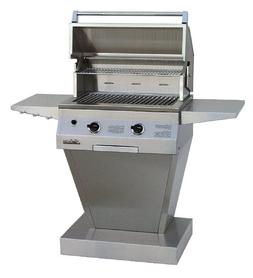 Solaire 27-Inch Basic Infrared Propane Pedestal Grill, Stain