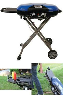 Bbq Grill Gas Propane Portable Push Button Ignition Two Burn