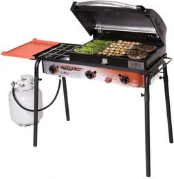 Big Gas Camping Grill - Portable Outdoor Kitchen Travel Cook