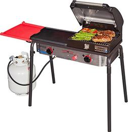 Camp Chef Big Gas Grill 2-Burner Camp Stove with BBQ Box  an
