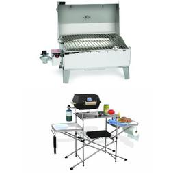 Camco Stainless Steel Portable Propane Gas Grill and Deluxe