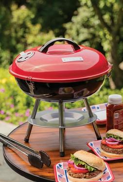 Cuisinart CCG190RB Portable Charcoal Grill, 14-Inch, Red, 14