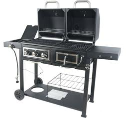 Dual Fuel Gas Charcoal Grill Cover Barbecue Charbroil Outdoo