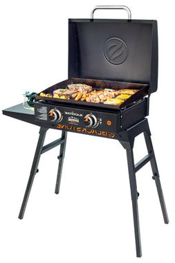 """GAS GRIDDLE PORTABLE OUTDOOR GRILL 22"""" Griddle with Hood, Le"""
