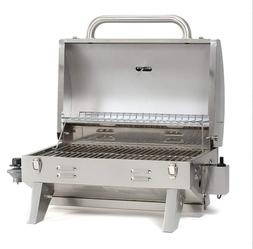 Gas Grill TableTop Propane Stainless Steel Smoke Hollow Outd