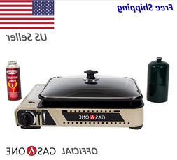 Portable Gas Grill Burner and Camping Griddle Propane and Bu