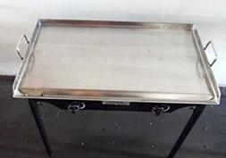 """HEAVY 32"""" Wide Stainless Steel Flat Top Double Griddle Grill"""