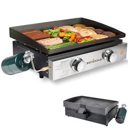 Indoor Gas Grill Portable Outdoor Propane Griddle Flat Table