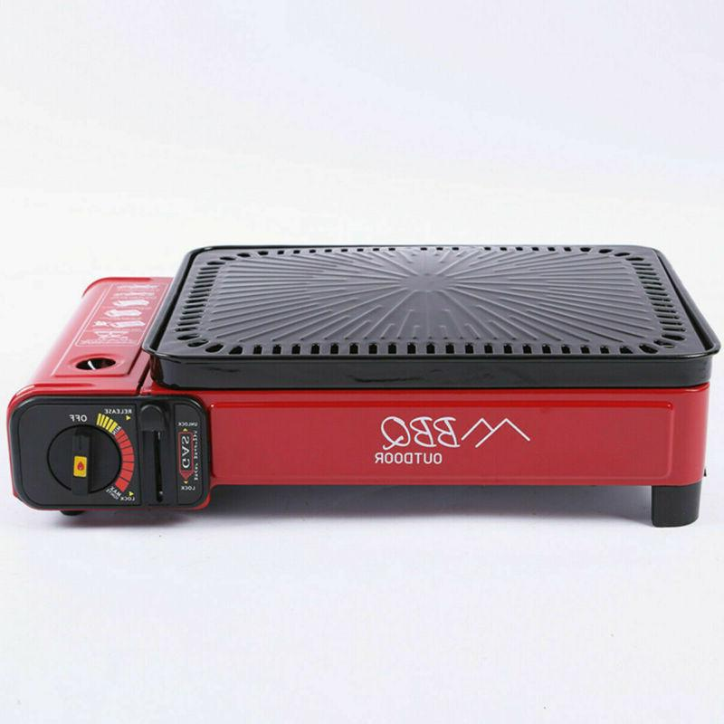 """17"""" Portable Large BBQ Grill Gas tabletop Outdoor US"""