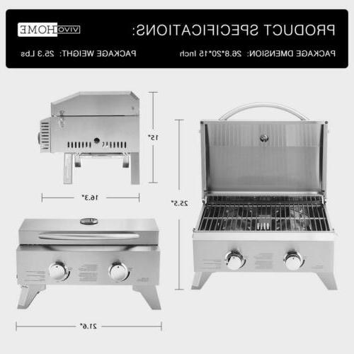 VIVOHOME Stainless Steel Barbecue Top Gas Grill