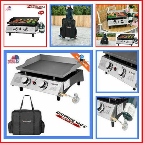 2 burner portable stainless steel bbq table