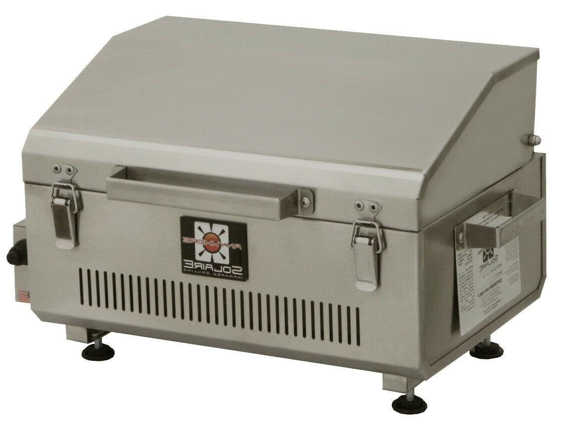 anywhere portable infrared propane gas grill stainless