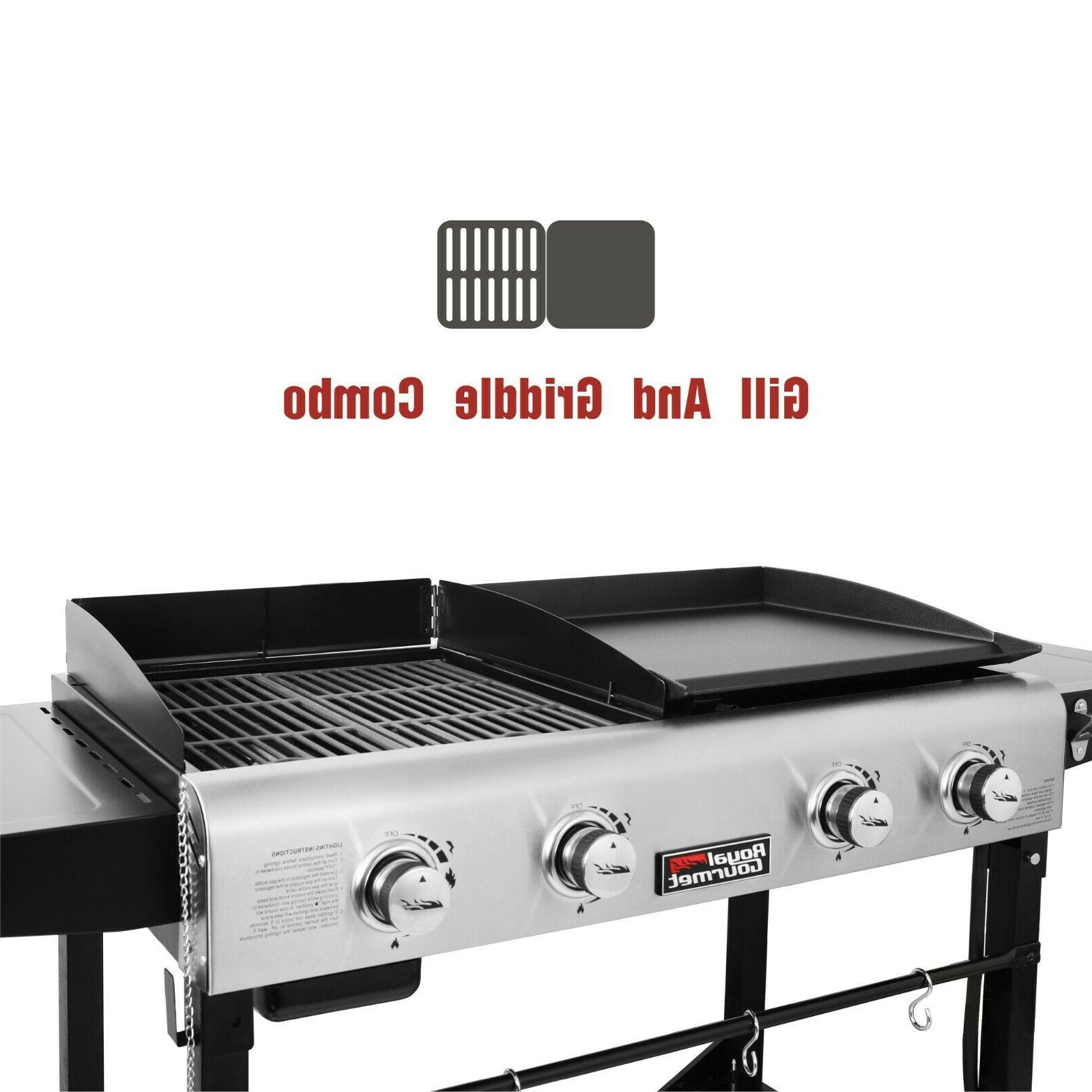 Royal Burner Gas Grill Griddle Combo Camping GD401