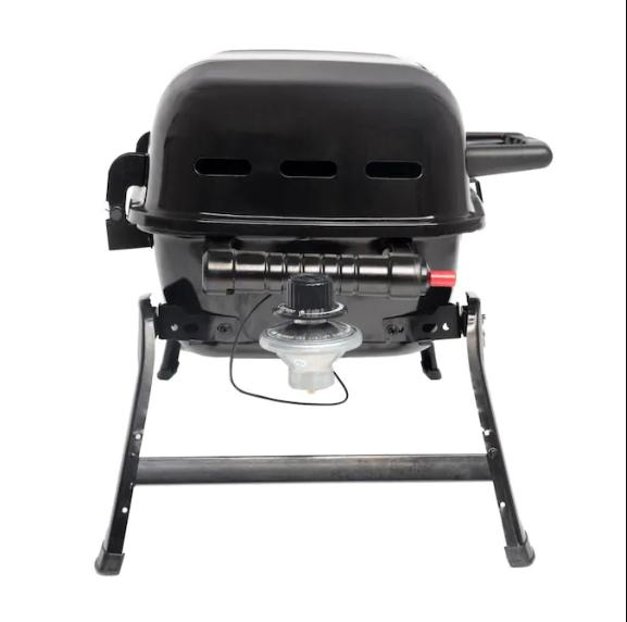 Black/Powder Coated in Portable Lp Grill