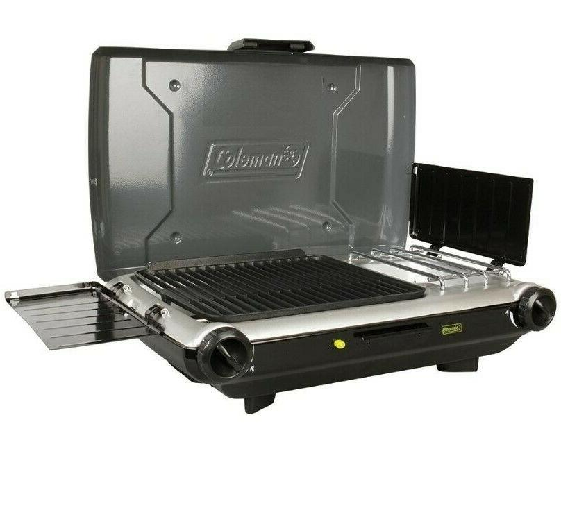 COLEMAN Camp Grill Stove, Propane, InstaStart, 22,000 BTUs-Free Shipping