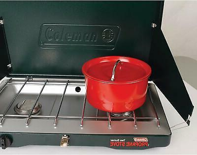 Coleman Gas Camping Stove Grill Classic Propane Stove With 2 20000 BTU