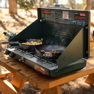 Coleman Gas Stove Grill With 2 Burners 20000 BTU