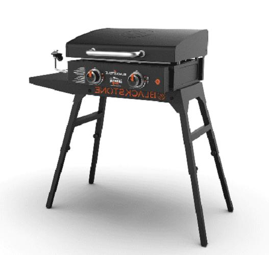 GAS GRIDDLE PORTABLE GRILL Griddle with Hood, Legs and Adapter