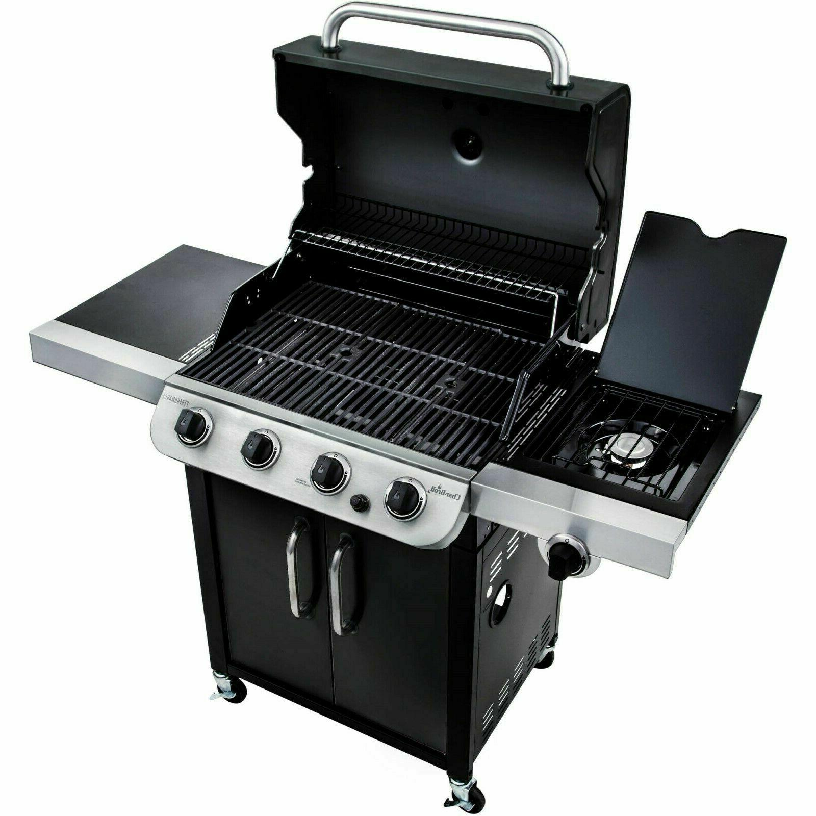 Gas Grill 4 Burner Stainless Steel Portable Outdoor Griddle