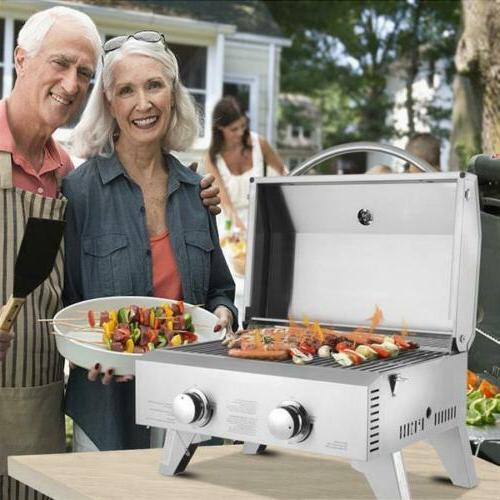 Gas Stainless Steel Portable Tailgating Camping Beach Party