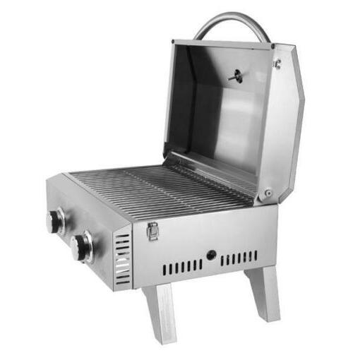 gas grill bbq stainless steel portable tailgating