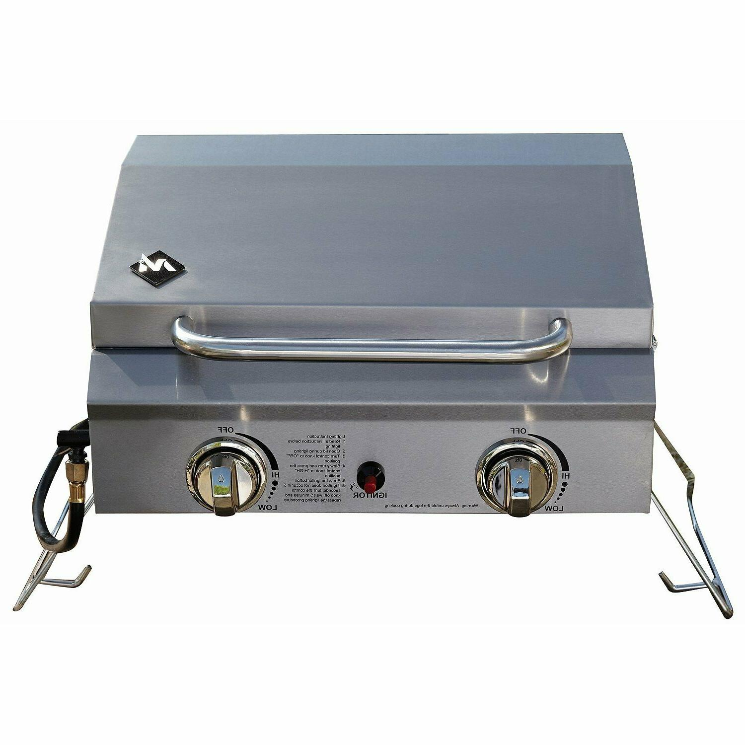 members mark portable stainless steel 2 burner