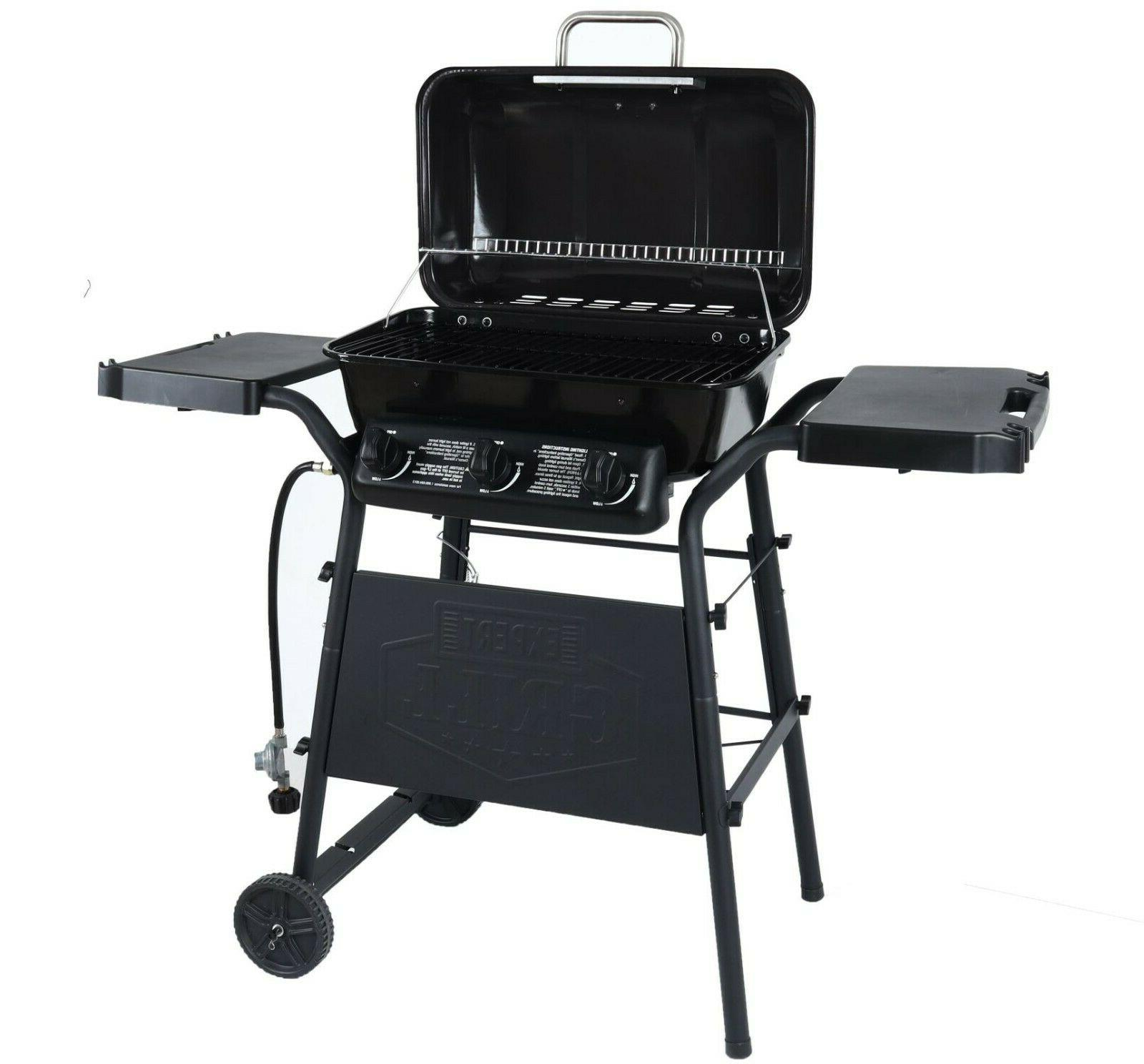 outdoor gas grill bbq 3 burner barbecue
