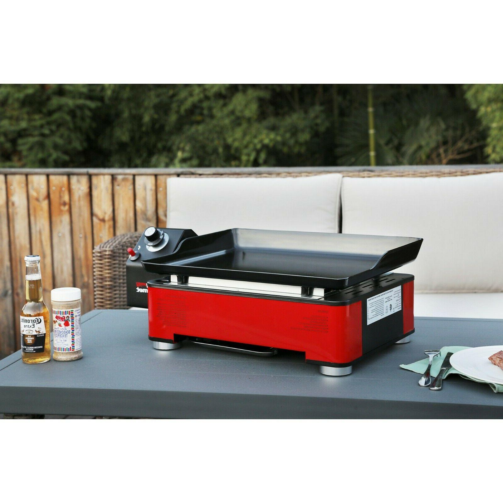 Royal Portable Table Top Propane Grill Griddle 12000BTU