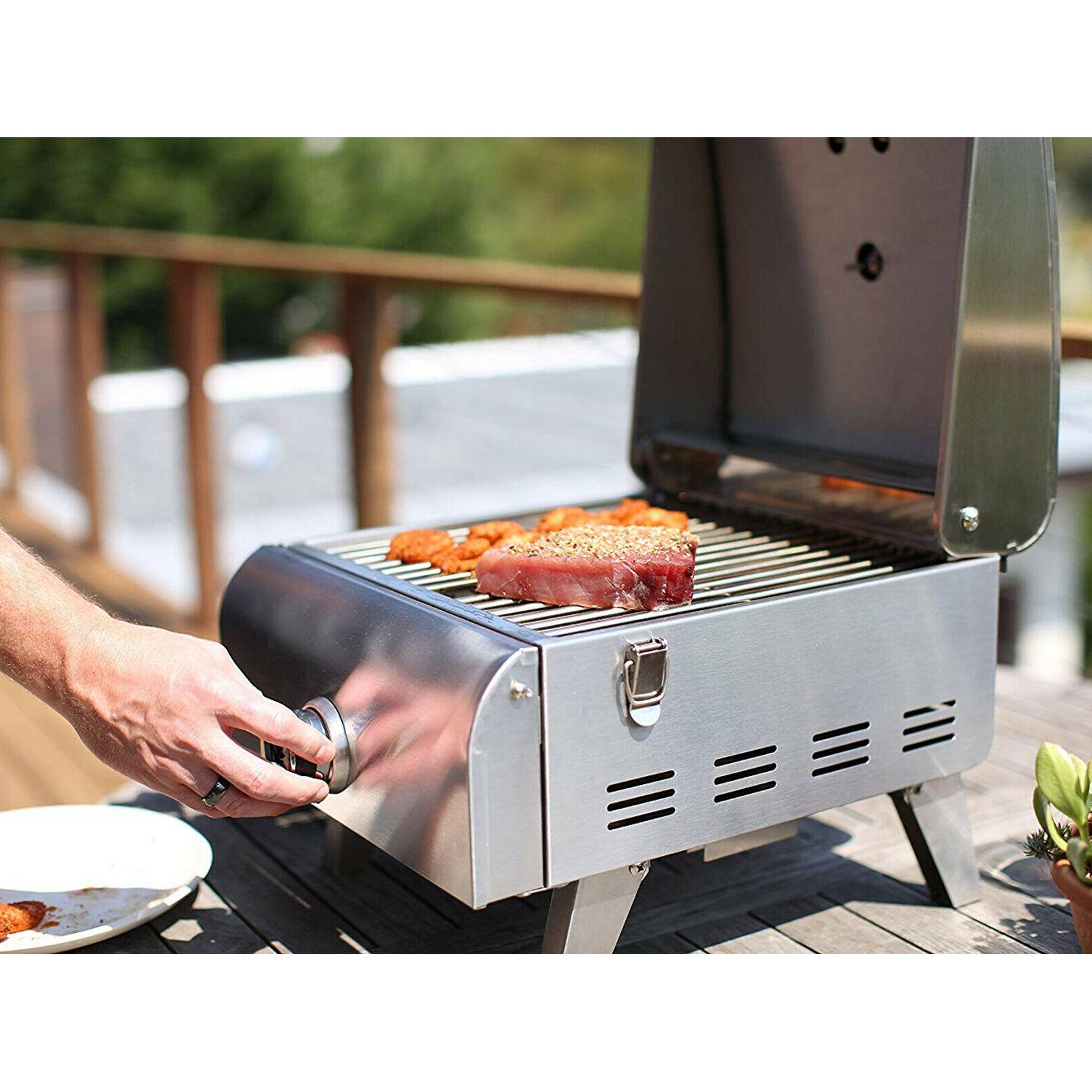 Portable Propane Gas Grill Stainless Steel Outdoor