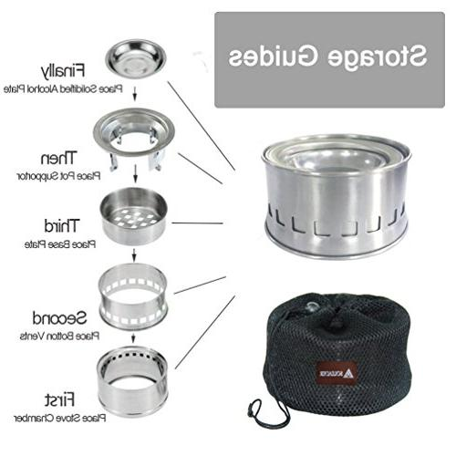 SOLEADER Burning Gasifier Stove Stove Backpacking