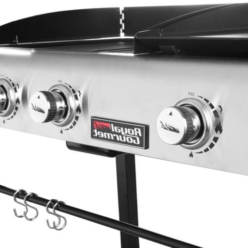Premium Portable Gas Grill and Griddle Combo with