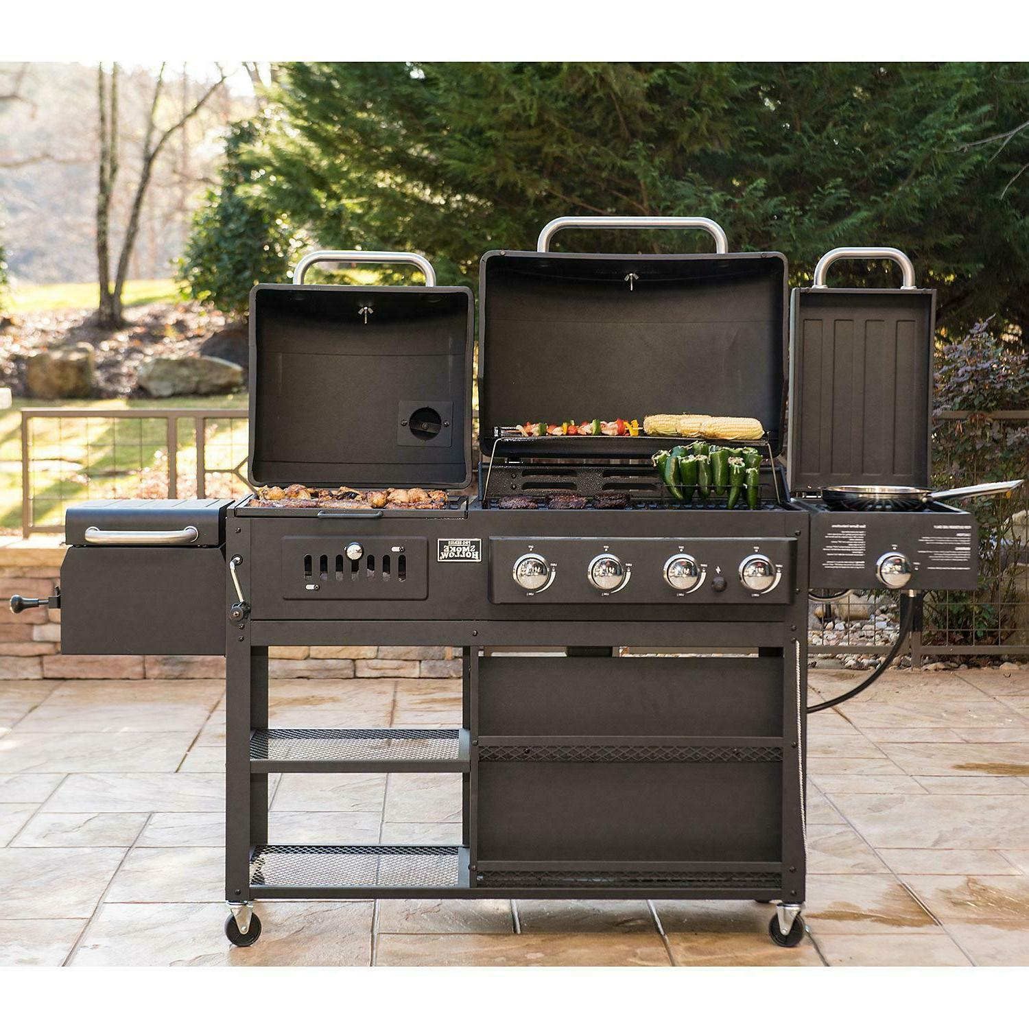 Smoke Hollow Pro Series 4-in-1 Gas And Charcoal Combo Hybrid