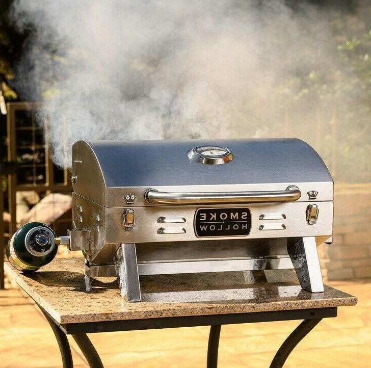 Propane Gas Grill Portable 1-Burner BBQ Stainless Steel