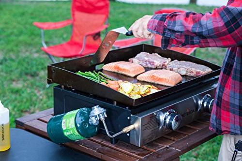 Blackstone Grill 22 Inch Griddle Propane - - Grease - While Camping, Tailgating Picnicking - Black