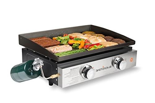 Blackstone Tabletop 22 Inch Griddle - Propane - 2 Adjustable Burners - Rear Grease Trap - For While Picnicking -