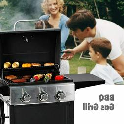 MASTER COOK Liquid Propane Gas Grill 3 Bunner w/ Folding Tab