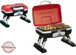 Petite Gourmet Portable Tabletop Outdoor Gas Grill In Red Cu