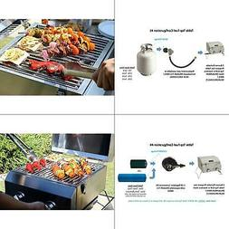 Portable 2 Burner Propane Gas Table Top Grill in Stainless S