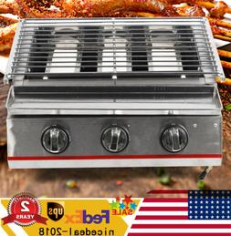Portable Gas Grill BBQ Camping Propane Barbecue Burner Backy
