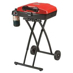 PORTABLE GAS GRILL Foldable Outdoor BBQ with Wheels and Lid