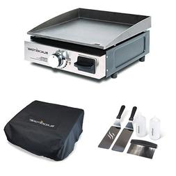 Blackstone Portable Gas Grill/Griddle with Griddle Kit and C