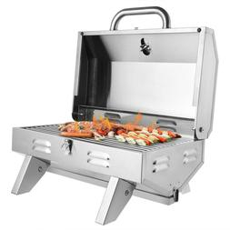 Portable Propane Gas Grill 12,000 BTU Tabletop Grill Outdoor