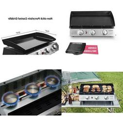 Royal Gourmet Portable Propane Gas Grill 2-Burner Stainless