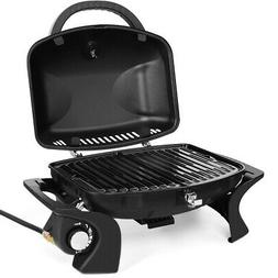 Gymax Portable Propane Gas Grill Bbq Tabletop Camping Barbec