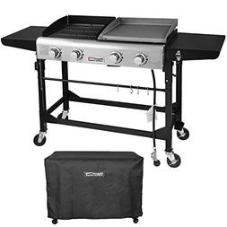 Royal Gourmet Portable Propane Gas Grill and Griddle Combo,4